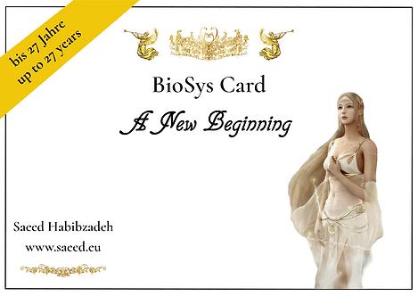BioSys Karten - Serie 1: Neuanfang (bis einschließlich 27 Jahre)