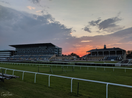 Doncaster Racecourse Sunset photos,