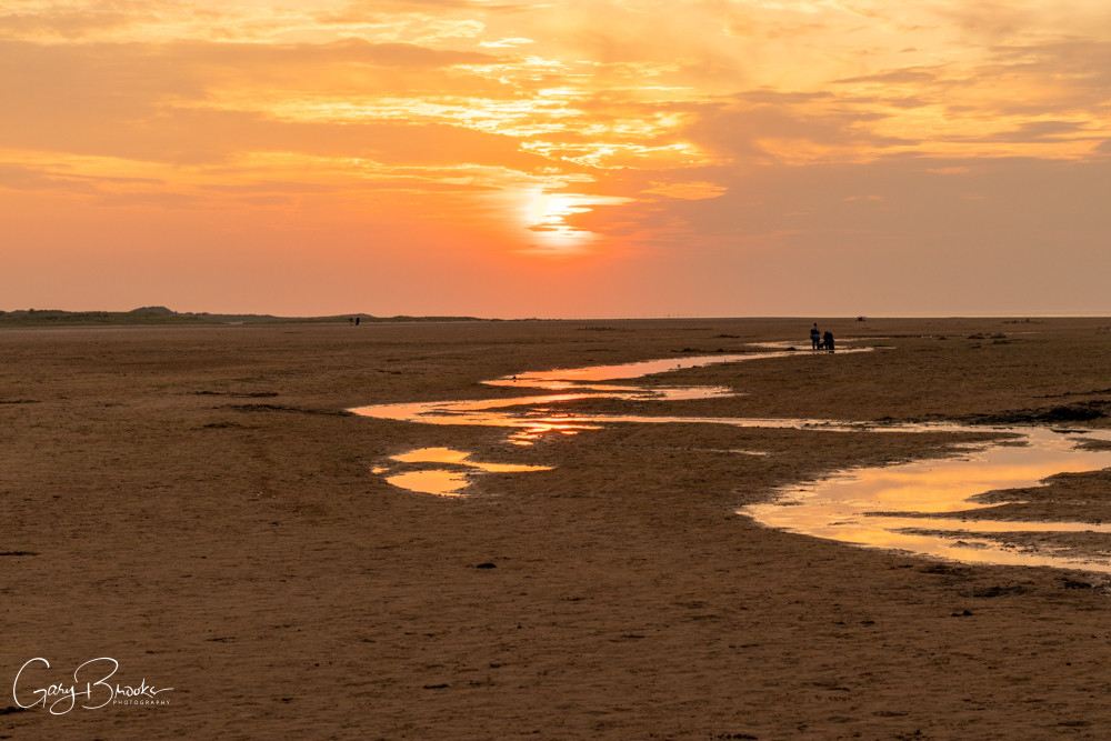 Holkham Beach evening Sunset.  Purchase copies of the Photograph here