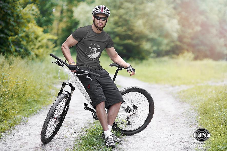 I Live for Mountain Biking Short-Sleeve Unisex T-Shirt