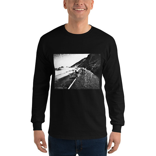Cycling Misty Cliff's Mens long sleeve Cotton Shirt