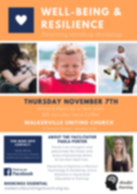 Well-being & Resilience Parenting Worksh