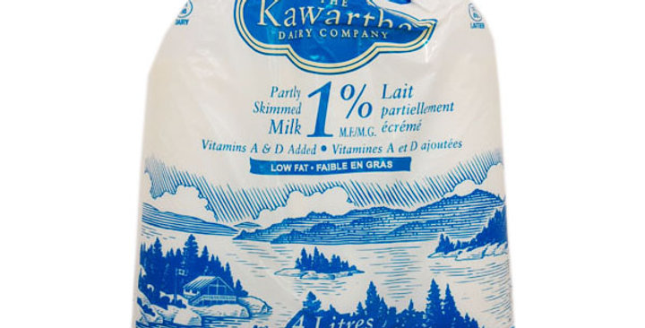 Kawartha Dairy 1% Milk (4 LTR bag)