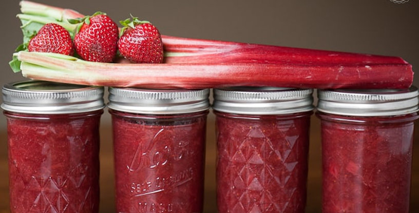 Farms Strawberry Rhubarb Jam - 500ml