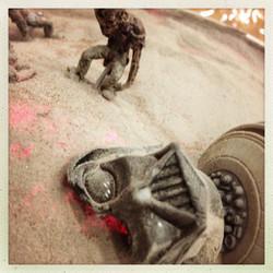 Battle of Zombie Jedi Close Up