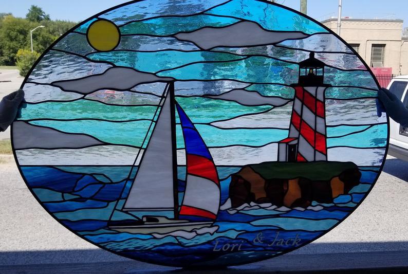 W 359 Stained Glass Window
