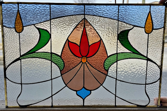 Traditional Stained Glass Panel P 122