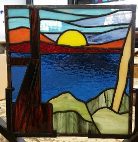 scenic window film transparent size23 scenic retreat stained glass window panelp176