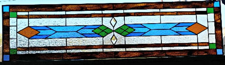 Modern Simplistic Stained Glass Transom Window Tw 194 Terrazastainedglass