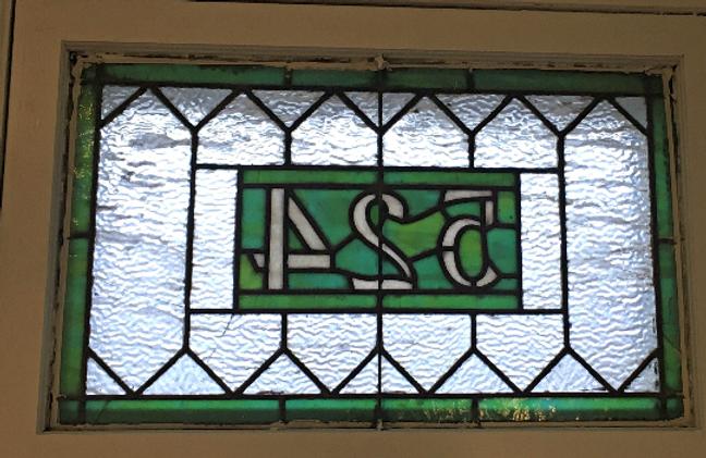 Sea Foam Retreat Stained Glass Address Marker Am 105