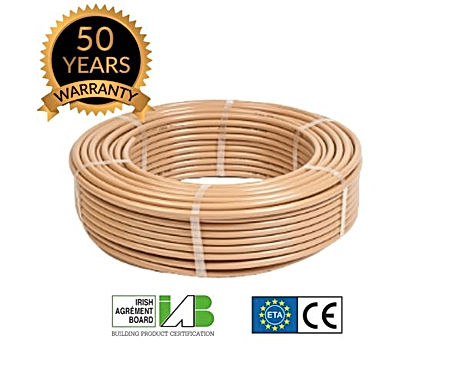 EUROFLEX Plumbing Oxygen Barrier Pipe (50 meter coil)