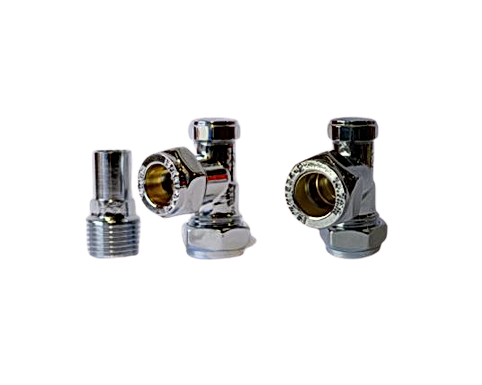 "Pro-Radiator Valve and Lockshield 1/2"" (15mm optional)"