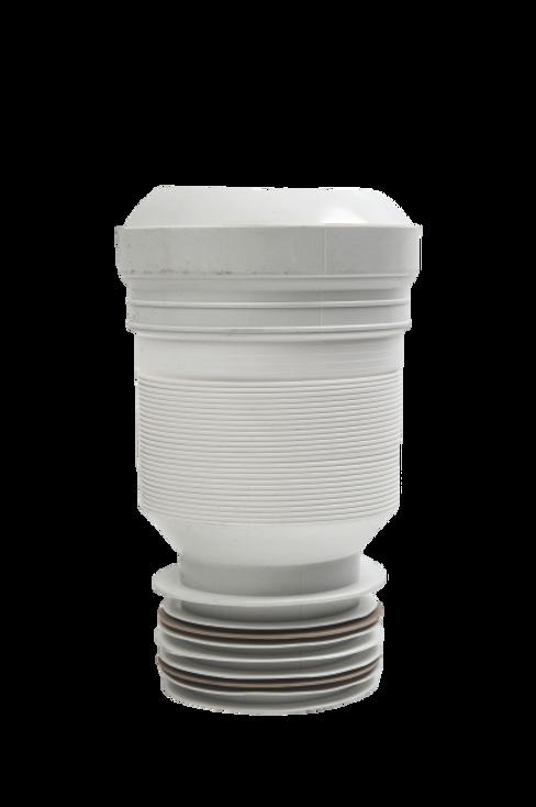 Flexible Adjustable WC Connector 110mm (225-500mm)