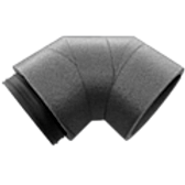 AquaAir HRV Insulated Rigid Elbow 90° DN 125/160/180