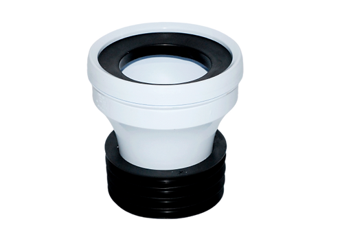 Straight WC Short Pan Connector (110mm)