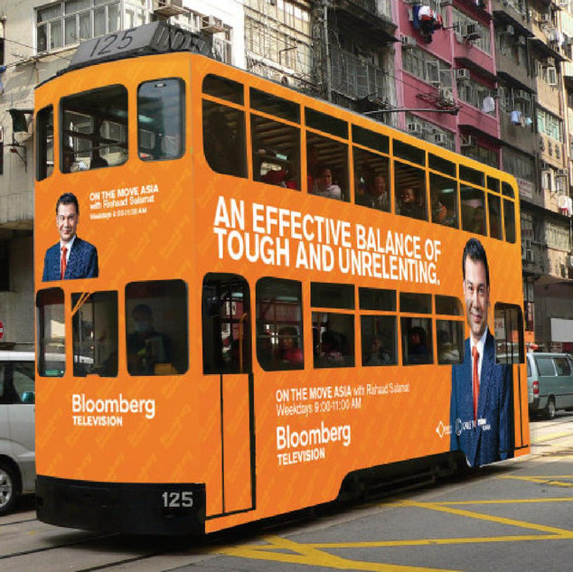 Bloomberg TV tram wrap