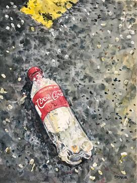 Discarded Coke still life