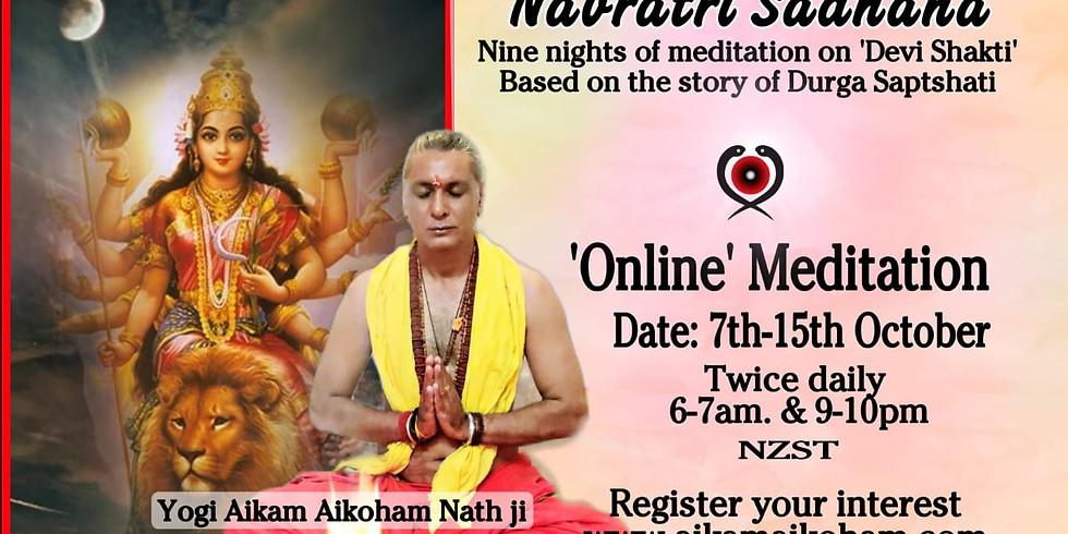 Zoom Online  Navratri Sadhana - Nine nights of Meditation on 'Devi Shakti'