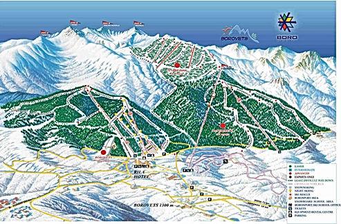 Borovets, ski map, ski, map