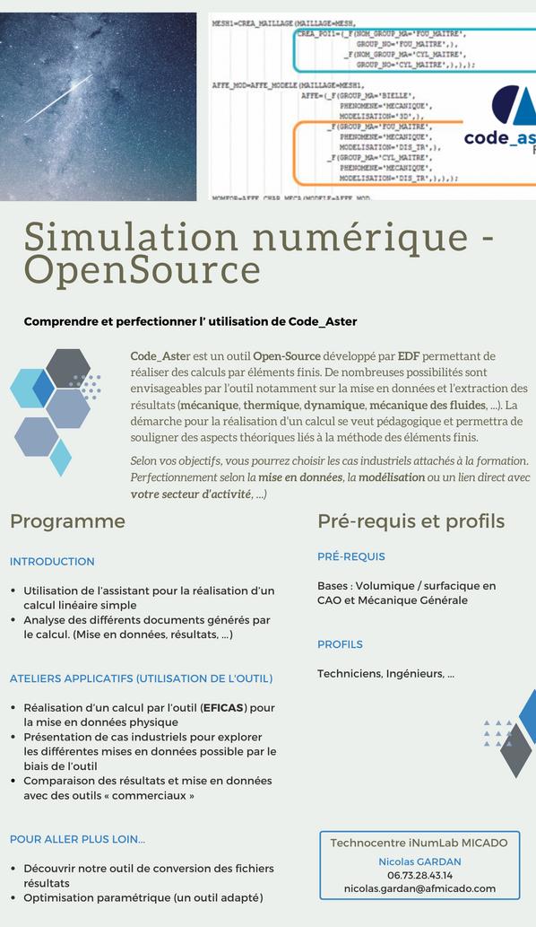 Fiche_Formation MICADO_Simulation Numér
