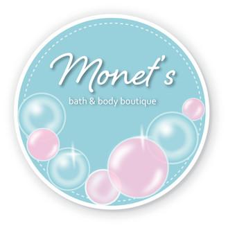 Monet's soap label