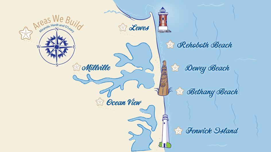 Map Illustration with Local Landmarks