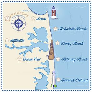 Custom Illustrated Map With Local Landmarks