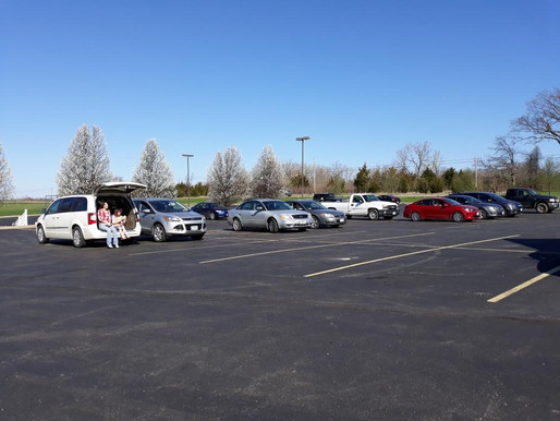33 Assemble for Drive-In Worship Service