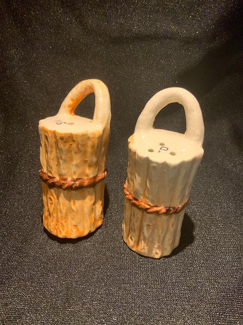 Basket Weave Salt & Pepper Shakers