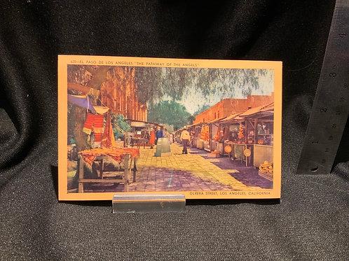 Vintage Olvera  Street Postcard