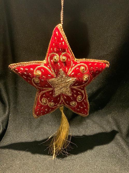 Large Hande Beaded Star