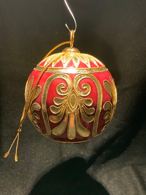 Ruby Enameled  Ornament