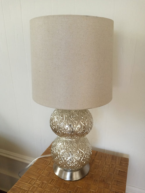 Glass Metallic Gladed Lamp