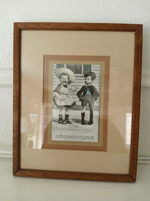 Vintages Framed Postcard