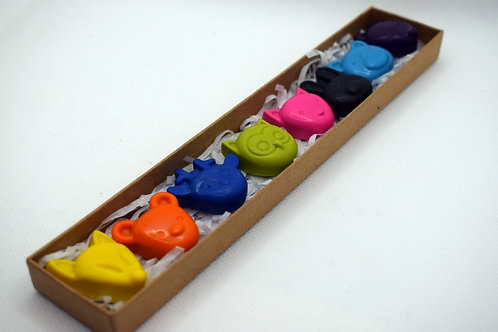 Small woodland animal crayons