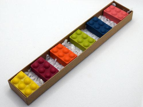 Small brick crayons
