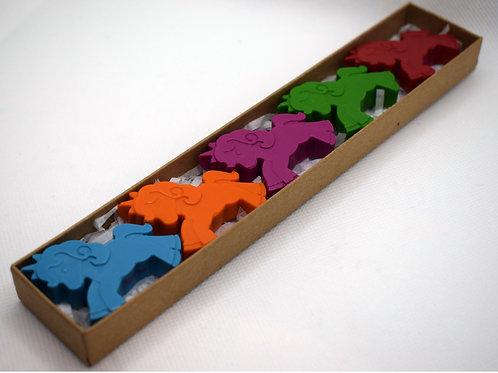 Small unicorn crayons