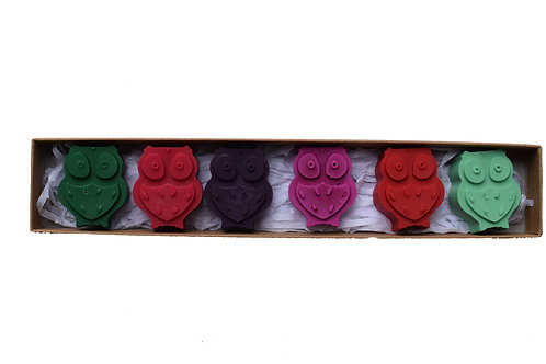 Small owl crayons