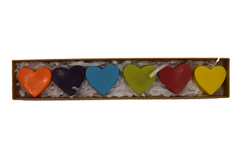 Small heart shaped crayons