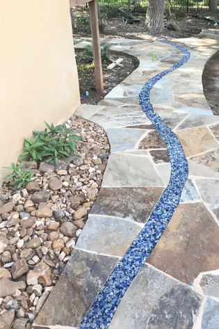 Custom-Flagstone-With-Blue-Glass-Insert.