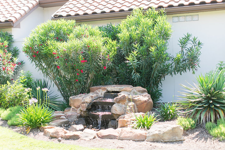san antonio landscape contractor custom water feature