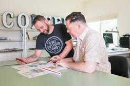 Chris & Jerry discussing custom landscape design
