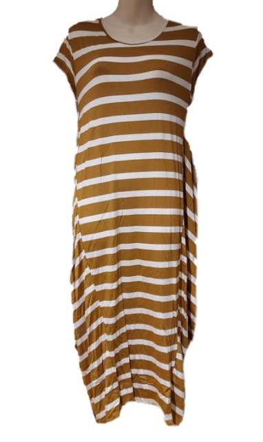 Dijon Striped Tee Dress
