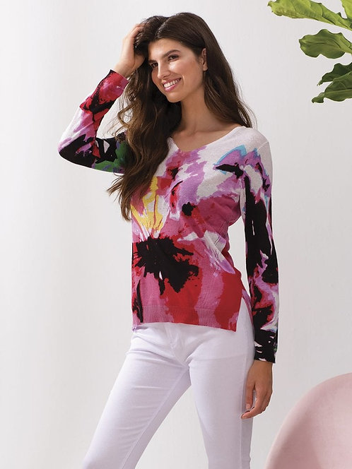 Flower Abstract Sweater