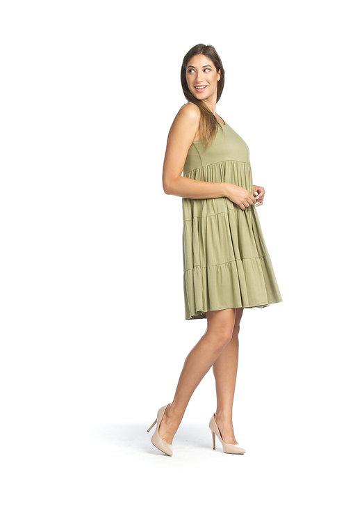 Sage Tiered Stretch Dress