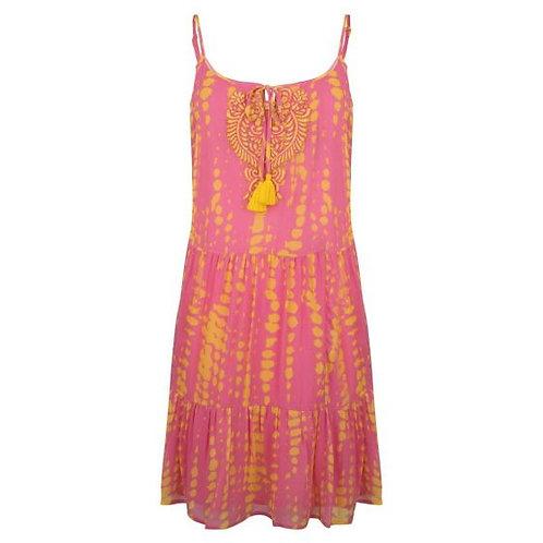 Tie Dye Beach Dress - Pink
