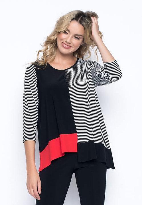 Asymmetrical Top 3/4 Sleeves