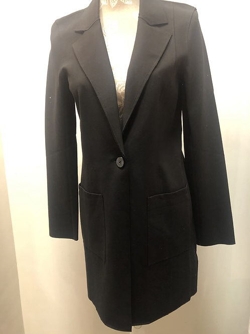 Long Blazer Jacket with Front Pockets