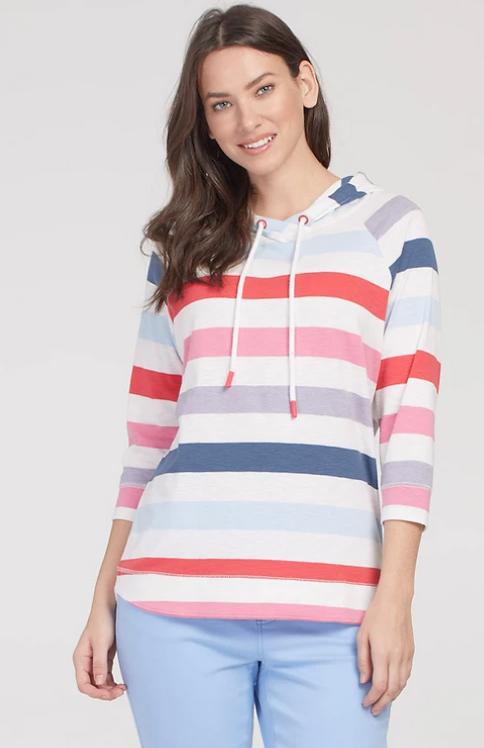 Multi Stripe Hoodie