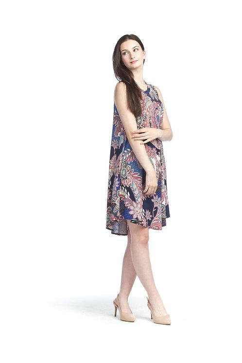 Paisley Aline Dress with Pockets